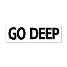 Go Deep Car Magnet 10 X 3