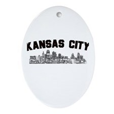 Kansas Cioty Skyline Oval Ornament