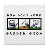 Garden Westies Tile Coaster