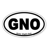 Girls' Night Out &quot;GNO&quot; Oval Decal