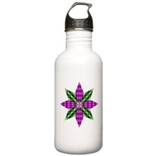 Purple and Green Star Water Bottle