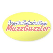 MuzzGuzzler Oval Decal