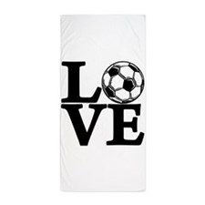 Soccer LOVE Beach Towel