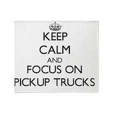 Keep Calm and focus on Pickup Trucks Throw Blanket