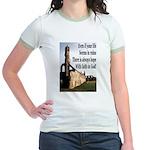Life In Ruins Faith In God Jr. Ringer T-Shirt