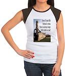 Life In Ruins Faith In God Women's Cap Sleeve T-Sh