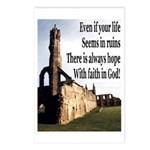 Life In Ruins Faith In God Postcards (Package of 8