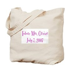 Future Mrs. Ozmer  July 7, 20 Tote Bag