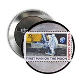 Apollo 11 on the Moon Button astronomy gift