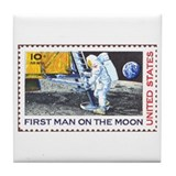 Apoll 11 Moon Landing Christmas Gift Tile Coaster