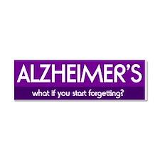 Cute Alzheimers disease Car Magnet 10 x 3
