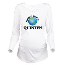 World's Greatest Qui Long Sleeve Maternity T-Shirt