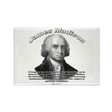 James Madison 08 Rectangle Magnet (100 pack)