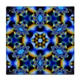 Northern Lights Kaleidoscope Tile Coaster