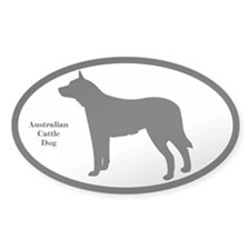 Australian Cattle Dog Silhouette Decal