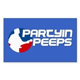 Partyin Peeps Rectangle Decal