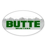 Butte, Montana Oval Decal