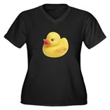 Rubber Ducky Women's Plus Size V-Neck Dark T-Shirt