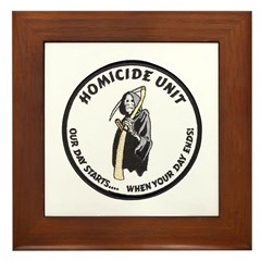 Homicide Unit Framed Tile