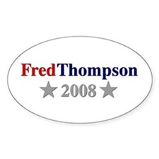 ::: Fred Thompson - Simple ::: Oval Decal