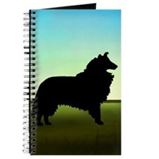 Grassy Field Collie Journal