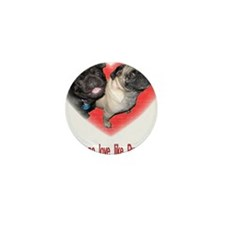 Cute Pug valentine Mini Button (10 pack)