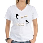 Yarrgh, pirate thoughts! Women's V-Neck T-Shirt