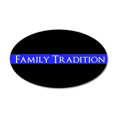 Police Family Tradition Wall Decal