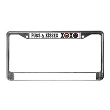Pugs & Kisses XOXO One Line License Plate Frame
