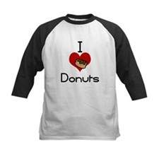 I love-heart donuts Baseball Jersey