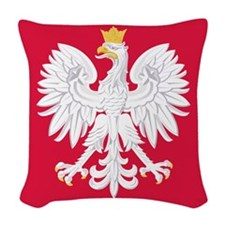 Poland Coat of Arms Woven Throw Pillow