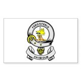 CHISHOLM Coat of Arms Rectangle Decal