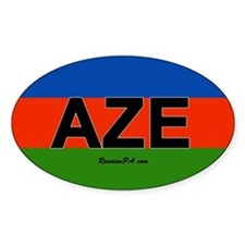 Azerbaijan car bumper sticker
