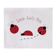 Little Lady Bug Throw Blanket