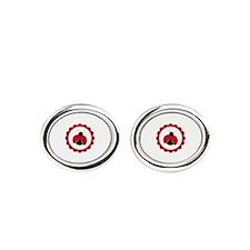 Ladybug Circle Oval Cufflinks