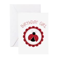 Ladybug Birthday Girl Greeting Cards