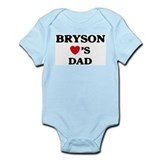 Bryson loves dad Infant Bodysuit