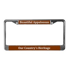 Beautiful Appaloosas License Plate Frame