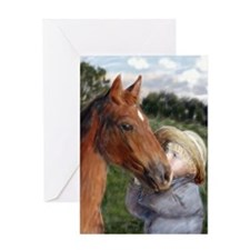 Amish Boy and Horse Greeting Cards