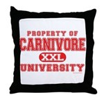Carnivore U. Throw Pillow