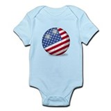 American Flag Soccer Ball (PP) Infant Bodysuit