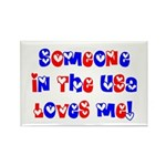 Someone in the USA Loves Me Rectangle Magnet (10 p