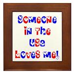 Someone in the USA Loves Me Framed Tile