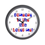 Someone in the USA Loves Me Wall Clock