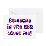 Someone in the USA Loves Me Greeting Cards (Packag