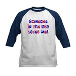 Someone in the USA Loves Me Kids Baseball Jersey