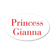 Princess Gianna-bod red Wall Decal