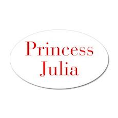 Princess Julia-bod red Wall Decal