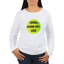 Tennis Begins With Love Women's Long Sleeve T-Shir