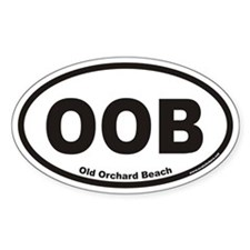 Old Orchard Beach OOB Euro Oval Decal